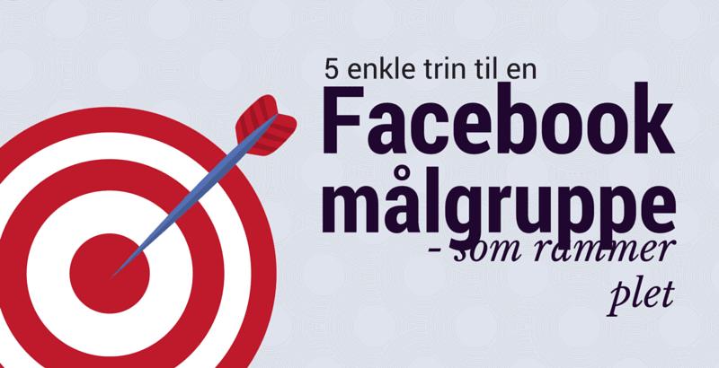 fem enkle trin til en Facebook målgruppe som rammer plet
