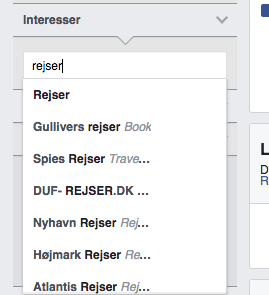 facebook målgrupper interesser