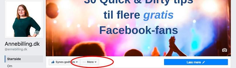 Inviter dine venner til at synes godt om din Facebookside