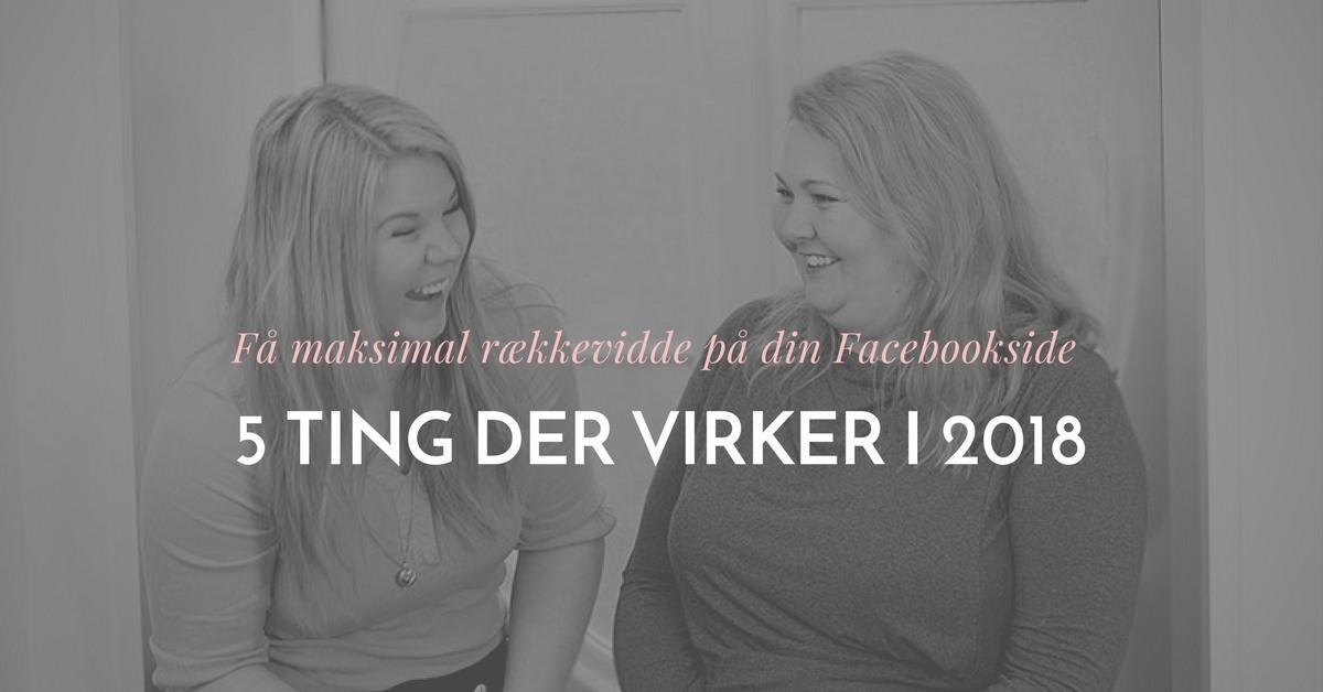 hvad virker paa facebook 2018