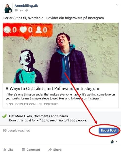 Boost på Facebook – like a boss