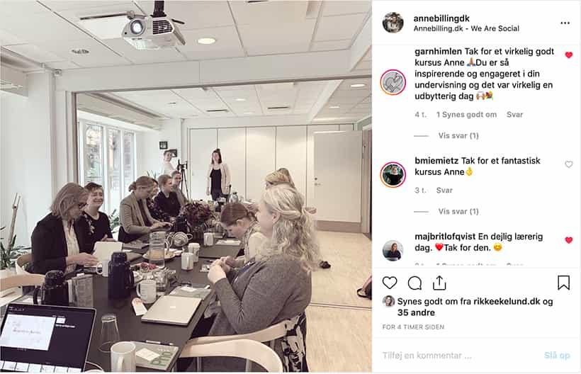 soloselvstændige på Instagram kursus i København