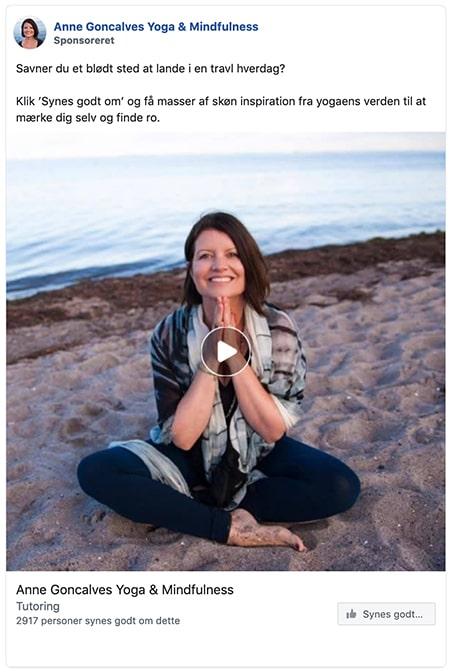 Facebook like-annonce fra Anne Goncalves
